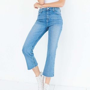 BDG high rise cropped kick flare jeans
